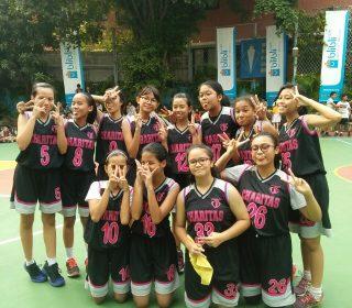 juara 2 basket putri di Tarakanita 5